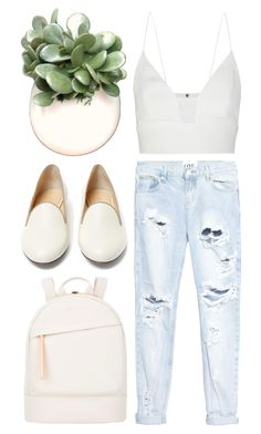 """repeat"" by grey-eyes ❤ liked on Polyvore featuring Narciso Rodriguez, One Teaspoon, Charlotte Olympia and Want Les Essentiels de la Vie"