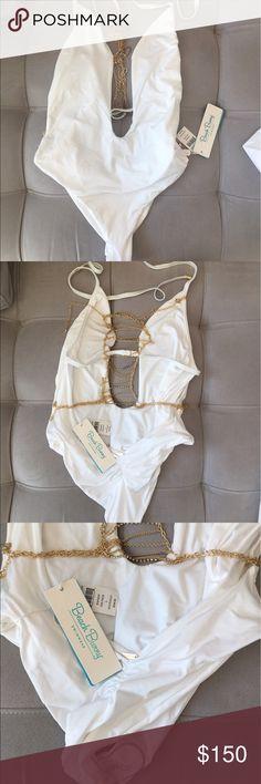 Bech Bunny swimsuit Beautiful Beach Bunny swimsuit. New with Tag. Size L. Beach Bunny Swim One Pieces