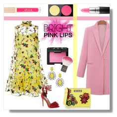 """Bright Pink Lips"" by stavrolga ❤ liked on Polyvore featuring beauty, Erdem, Steve Madden, NARS Cosmetics, Topshop, MAC Cosmetics, House of Holland, Stila, ABS by Allen Schwartz and polyvoreeditorial"
