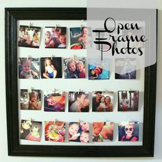 Open Photo Frame {with Instagram Photos}