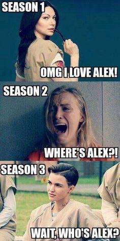 Alex Vause ou le personnage qui engendre plusieurs facette d'elle à chaque saison...