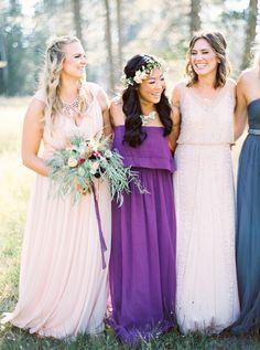 2018 pantone color of the year, pantone color of the year 2018, Married in a Stunning Mountain Meadow, pantone ultra violet, dark purple dress, bright purple, violet