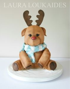 Rocco the Reindeer Cake by Laura Loukaides www.facebook.com/LauraLoukaidesCakes