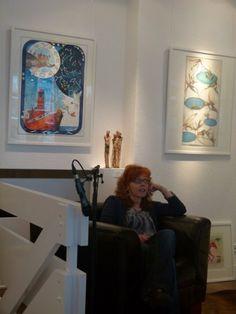 Unsere Sternzeichen in Hamburg   Susanne Haun in unserer Ausstellung (c) Frank Koebsch