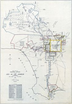 Los Angeles Annexations Map, 1916