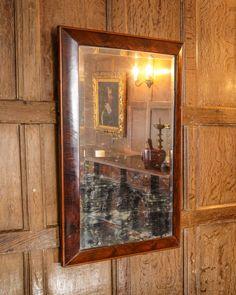 17th century oyster veneered mirror, Marhamchurch antiques