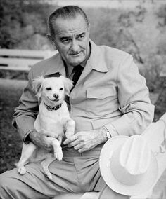 "Yuki was a mixed breed dog found by President Johnson's daughter, Luci Nugent, at a gas station in Texas on Thanksgiving Day in 1966, while on her way to the LBJ Ranch. Luci named the dog ""Yuki"", which means ""snow"" in Japanese. At first, Yuki lived with Luci, but while visiting the White House, Yuki won the President's heart and became his faithful companion"