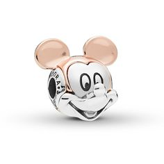 Style your bracelet with the eternal cheer of Mickey Mouse with this Disney Pandora Essence Collection charm. The lovable mouse is cast in sterling silver and detailed with Pandora Rose ears. Disney Pandora Bracelet, Pandora Leather Bracelet, Pandora Charms Disney, Disney Jewelry, Pandora Bracelets, Pandora Jewelry, Pandora Rings, Wrap Bracelets, Charm Bracelets