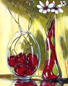 Daniel Vincent         Acrylic Photography Illustration, Art Photography, Daniel Vincent, Painting Templates, Apple Art, Beginner Painting, Still Life Art, Paintings I Love, Vase