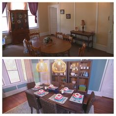 Before and After - the dining room