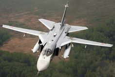 Russian Sukhoi Su-24 « Fencer » attack aircraft.