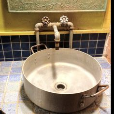 Mex Restaurant bathroom sink in Lafayette Restaurant Bad, Restaurant Bathroom, Restaurant Design, Rustic Italian, Italian Home, Italian Pasta, Outdoor Bathrooms, Rustic Bathrooms, Modern Bathrooms