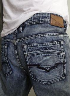 Buffalo David Bitton Men Jeans Driven Distressed Dark Wash