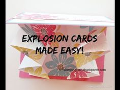 Easy directions for an explosion card! Its also part of my Petal Potpourri Class to Go! Click through to read more.
