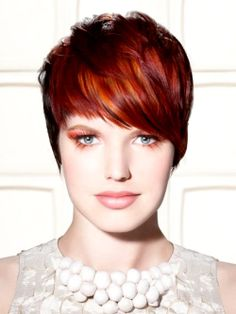 Hairstyles with red highlights