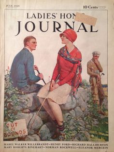 vintage ladies home journal magazine covers -July 1929