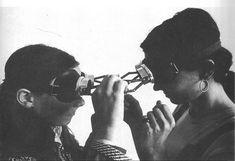 Professional Artist Parallel: Lygia Clark's sensorial masks--Diálogo de Óculos/Dialogue Googles, 1968