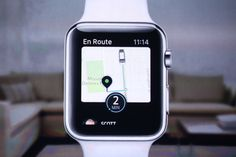 """Tech Crunch: """"When you open the Uber app on your Apple Watch, it goes straight to a screen showing how long it'll be until a car can come get you — no pulling out your phone to drop pins or choose . Uber Promo Code, Uber Codes, Uber Everywhere, Black Car Service, Driving Jobs, Apple Watch Apps, Uber Driver, Engineering Technology, Business Intelligence"""