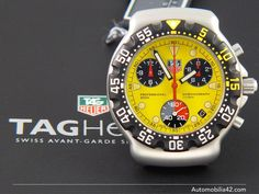 New Old Stock TAG Heuer Formula One F1 Chronograph FIA Yellow dial CA1213.BA0493