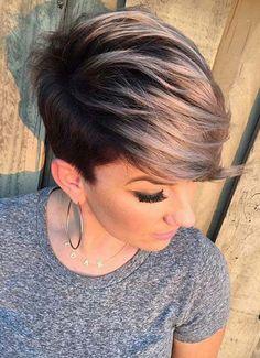 20 Nice Hair Color for Short Hair - Hair Styles Undercut Hairstyles, Pixie Hairstyles, Cool Hairstyles, Hairstyle Ideas, Undercut Women, Hair Ideas, Short Undercut, Haircut Short, Pixie Haircuts