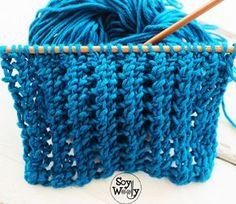 Reversible Lace Point in two turns Knitting Help, Vogue Knitting, Knitting Stitches, Knitting Patterns, Knitting Ideas, Crochet Yarn, Merino Wool Blanket, Stitch Patterns, Fabric