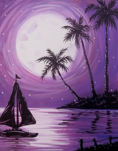 Hey! Check out Sailing at Dusk at Dockside Grill at the Four Points by Sheraton - Paint Nite