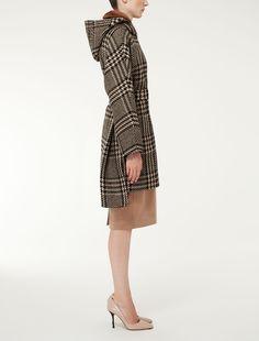 ALCOOL Max Mara, Duffle Coat, Beige, High Neck Dress, Dresses For Work, Fashion, Alcohol, Taupe, Moda