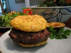 Gluten-Free Nut-Free Sesame Hamburger Buns - The Paleo Mom Paleo Hamburger Buns, Paleo Burger, Primal Recipes, Whole Food Recipes, Cooking Recipes, Healthy Recipes, Healthy Eats, Bread Recipes, Paleo Bread