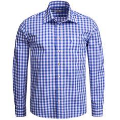 Trachtenhemd Regular Fit in Blau von Almsach