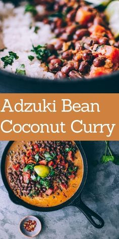 An incredibly flavorful coconut curry broth enveloping adzuki beans makes for one filling and healthy meal when served alongside rice or quinoa. This Adzuki Bean Curry is vegan and gluten-free. Curry Recipes, Thai Recipes, Indian Food Recipes, Ground Coriander, Chickpea Curry, Lentil Curry, Coconut Curry Vegan, Beans Curry