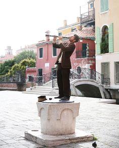 clarinet player, venice