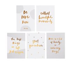 QUOTE CARDS SET OF 5: SVENSKA HEM STILLA