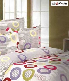 Home Candy Trendy Circles Double Bed Sheet