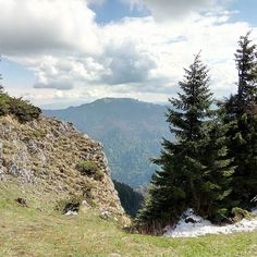 #Nature #cleavage. #rock #stones #forest #sky #Postavaru #Transilvania #Transylvania #green #blue