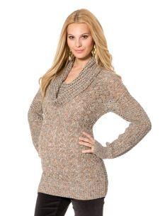 Destination Maternity Jessica Simpson Long Sleeve Pointelle Maternity Sweater