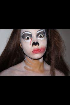 #halloween makeup #airbrush #strangled zombie