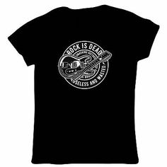 Do you really think Rock could ever die? Mens Printed T Shirts, T Shirts For Women, Clothes For Women, Baseball Classic, Music Gifts, Guitar, Rock, Mens Tops, Fashion Clothes