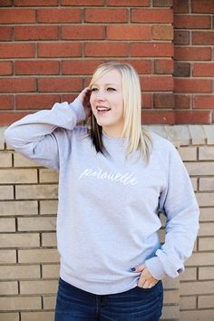 Pirouette Crewneck Sweatshirt by dancelove. Crew Neck Sweatshirt, Dancer, Street Style, Sweatshirts, Sleeves, Sweaters, Cotton, Clothes, Collection