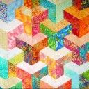 My half hexagon quilt top
