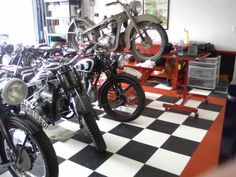 Tough Floors for Tough Bikes. #GarageFlooring