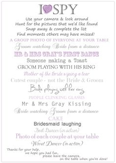 i spy wedding camera cards photo requests quality linen card personalised in maison - Lot Appareil Photo Jetable Mariage