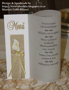 Menükarte für eine Goldene Hochzeit  Mehr Infos unter http://klein-aberfein.blogspot.co.at