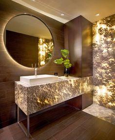 Inspirations – Aria Stone Gallery: Onyx Bathroom (backlit)