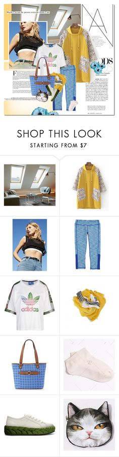 """Enjoy your day"" by undici ❤ liked on Polyvore featuring Silence + Noise, adidas Originals, Croft & Barrow and Marco de Vincenzo"