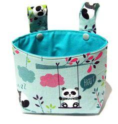 Handlebar bag, child bike bag, wheel bag - cute Panda bears, either lining Pink or turquoise Bike Seat Cover, Bike Bag, Childrens Beds, Kids Bike, Cute Panda, Turquoise, Bike Accessories, Pink Fabric, Tricycle