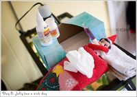 Elf on the Shelf - sick day