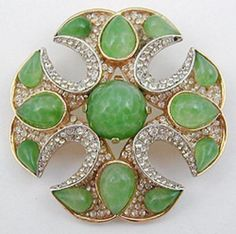 Trifari Jewels 0f india Maltese Cross Brooch - Garden Party Collection Vintage Jewelry