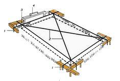 Разметка площади под фундамент
