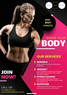 Choose the right coach when you want to get the perfect body shape. A personal training coach can easily tell you how to maintain the body.   #fitness #GYM #body #Athletic #Crossfit # Nutrition Graphic Design Flyer, Sports Graphic Design, Creative Poster Design, Creative Posters, Fitness Flyer, Fitness Logo, Body Fitness, Social Media Poster, Social Media Design