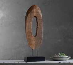 Wood Slice on Stand #potterybarn  make with birch slices